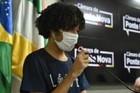 Propostas dos estudantes do Parlamento Jovem são apresentadas na Tribuna Livre